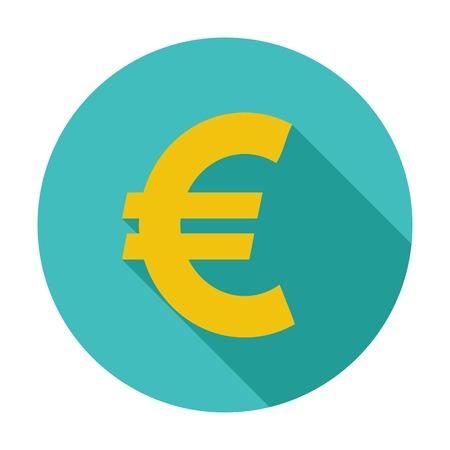 dinero euros: Icono de euros. Vectores