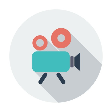 video reel: Video camera icon Illustration