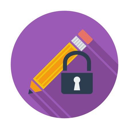Lock for editing single icon. Vector