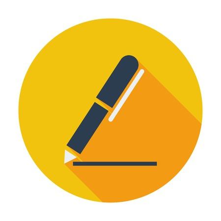 pen writing: Notes single icon.