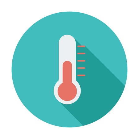 celsius: Thermometer flat icon. Illustration
