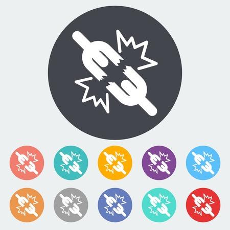 broken unity: Broken connection single icon