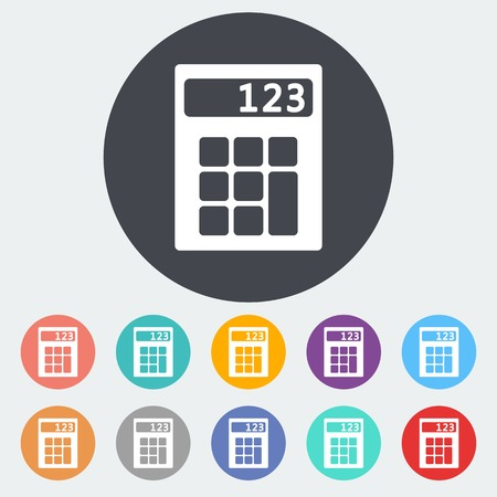 maths department: Calculator icon. Illustration