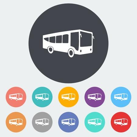 coach bus: Bus flat icon