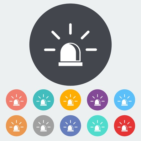 Police. Single flat icon on the circle. Vector illustration. Vector
