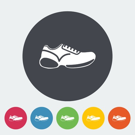 Shoes. Single flat icon on the circle. Vector illustration. Vector