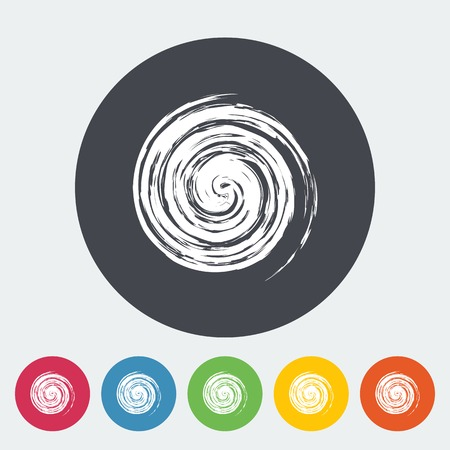 Sun. Single flat icon on the button. Vector illustration. Vector