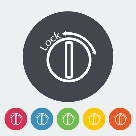 ignition: Ignition. Single flat icon on the circle. Vector illustration.