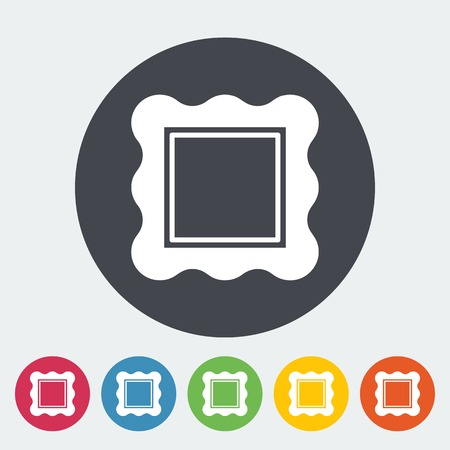 Picture frame. Single flat icon on the circle. Vector illustration. Vector