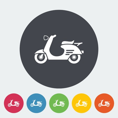 revivalism: Scooter. Single flat icon on the circle. Vector illustration. Illustration