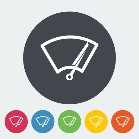 Car wiper. Single flat icon on the circle. Vector illustration. Vector