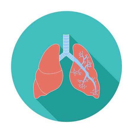 bronchiole: Lungs. Single flat color icon. Vector illustration. Illustration