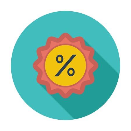 Percent label. Single flat color icon. Vector illustration. Vector