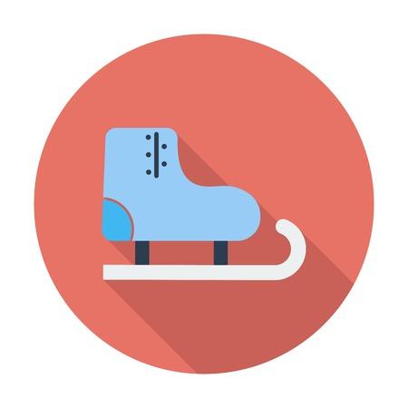 racing skates: Racing skates. Single flat color icon. Vector illustration.