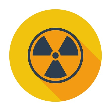 chemical weapon: Radioactivity. Single flat color icon. Vector illustration. Illustration