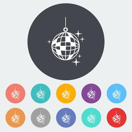 Disco ball. Stock Illustratie