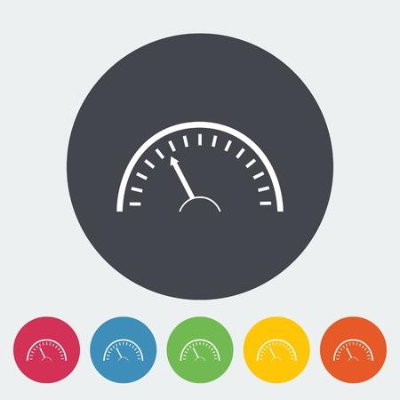 kph: Speedometer icon. Illustration