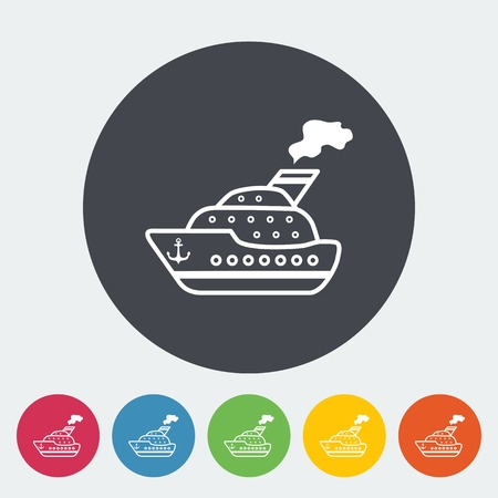 Ship flat icon. Vector