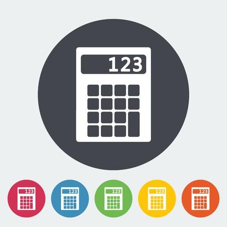 maths department: Calculator icon. Illustration