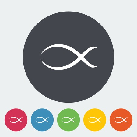 ichthys: Fish single icon.