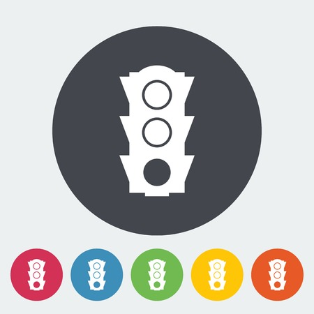 Traffic light icon. Vector