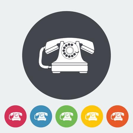 vintage telefoon: Vintage telefoon pictogram.