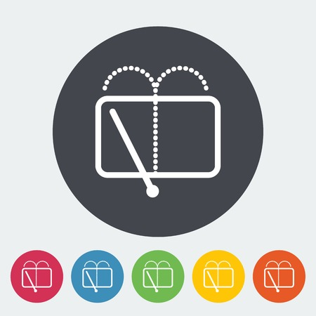 ruitenwisser: Auto plat icoon wisser. Stock Illustratie