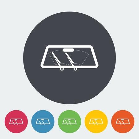 wiper: Wiper car single icon.