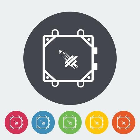 xenon: Icono plano de la l�mpara de xen�n coche