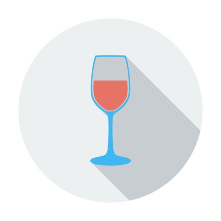Wine glass. Single flat color icon. Vector illustration. Vector