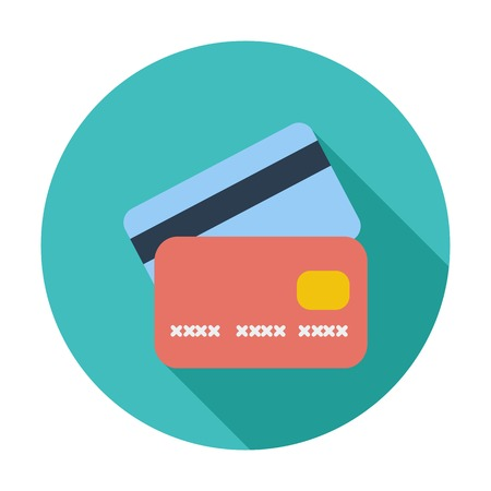 plastic card: Credit card flat single icon.
