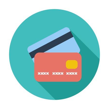 Tarjeta de crédito icono sola plana. Foto de archivo - 33262984