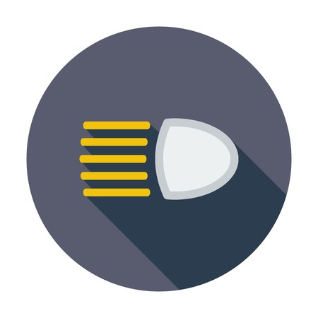 automatic transmission: Headlight. Single flat color icon. Vector illustration.