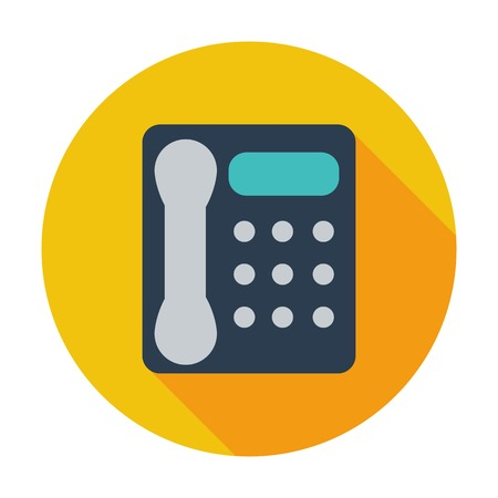 Office phone. Single flat color icon. Vector illustration. Illustration