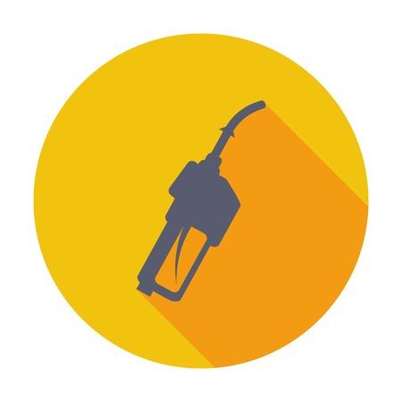 refueling: Refueling nozzle. Single flat color icon. Vector illustration. Illustration