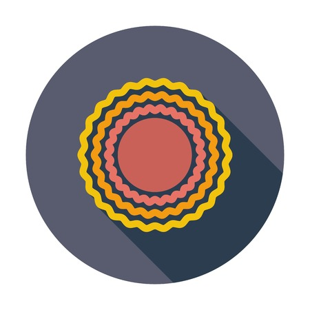 Sun. Single flat color icon. Vector illustration. Vector