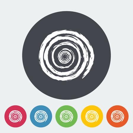 Sun. Single flat icon on the circle. Vector illustration. Vector