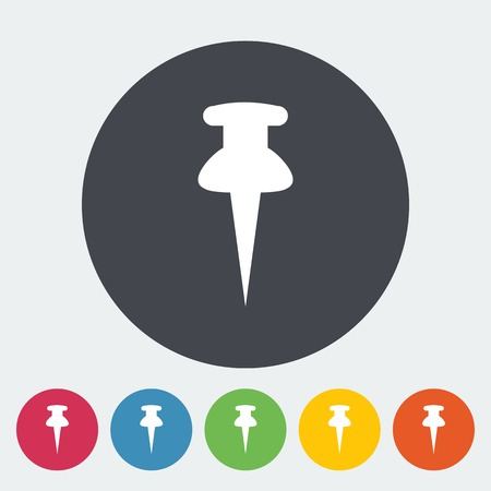 Map pointer. Single flat icon on the circle. Vector illustration. Vector