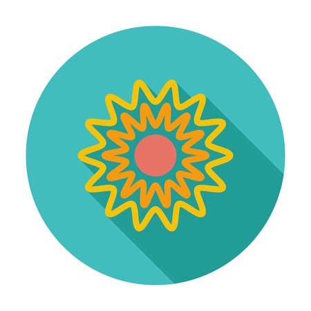 Sun. Single flat color icon. Vector illustration. Vector