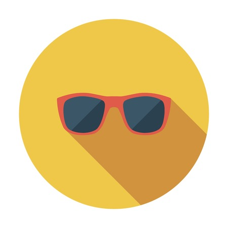 sunglasses reflection: Sunglasses. Single flat color icon. Vector illustration.