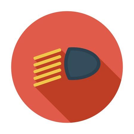 headlight: Headlight. Single flat color icon. Vector illustration.