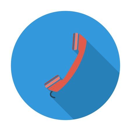 digitized: Tel�fono. Individual icono de color plano. Ilustraci�n del vector. Vectores