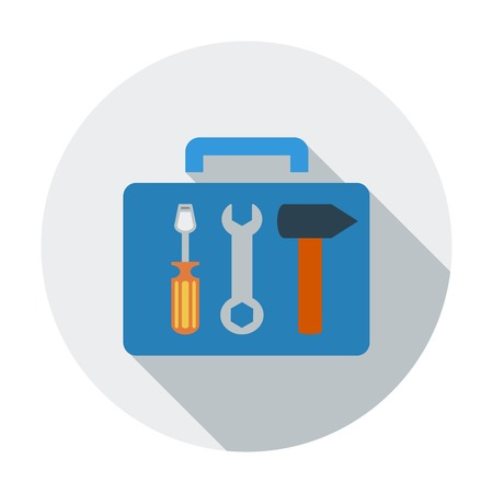 Tool box. Single flat color icon. Vector illustration. Vector
