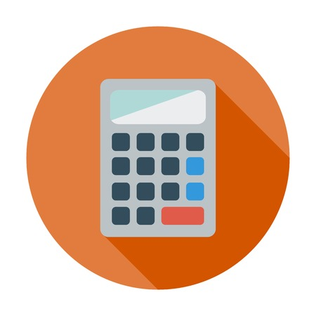 maths department: Calculator. Single flat color icon. Vector illustration.