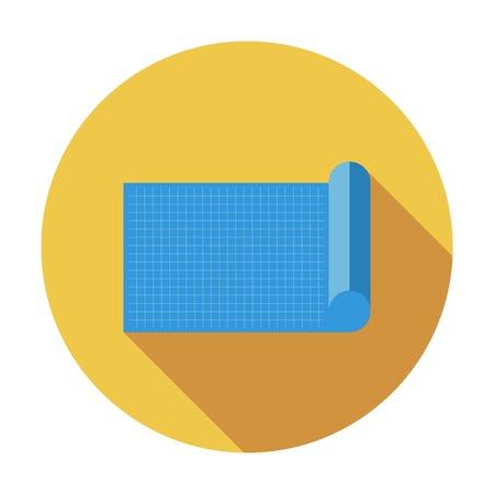 Blueprint. Single flat color icon. Vector illustration. Vector