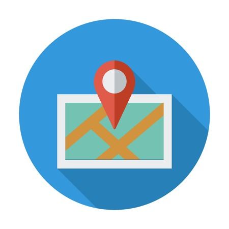 Map. Single flat color icon. Vector illustration. Vector