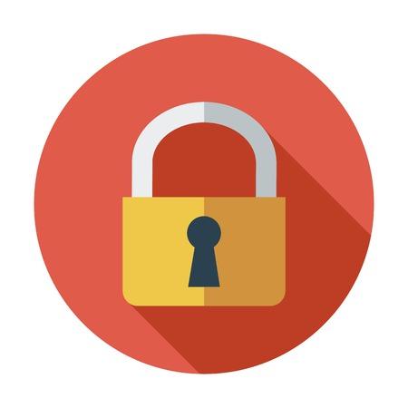 Lock. Single flat color icon. Vector illustration. Vector