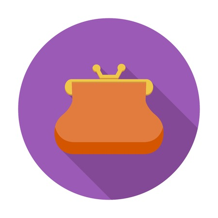 Purse. Single flat color icon. Vector illustration. Vector