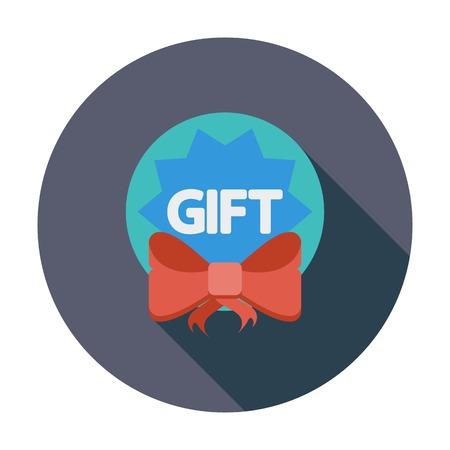 Gift label. Single platte kleur icoon. Vector illustratie. Vector Illustratie