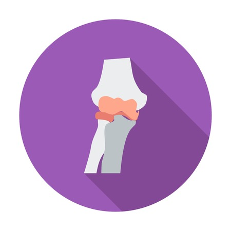 geriatrics: Knee-joint. Single flat color icon. Vector illustration. Illustration